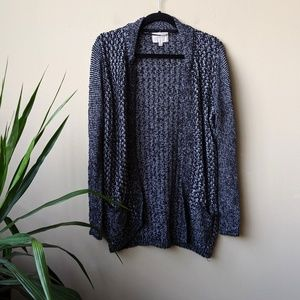 Skies Are Blue Chunky Knit Open Front Cardigan L